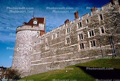 Wall, Turret, Tower, Windsor Castle, England