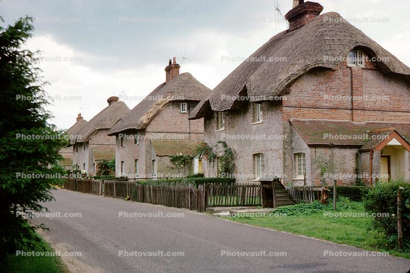 Thatched Roof House, Home, Building, street