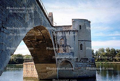 Pont Saint-Benezet Bridge, Pont d'Avignon, Rhone River, medieval bridge, Chapel of Saint Nicholas, ruin, landmark