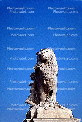 Lion statue, Statuary, Sculpture, Exterior, Outdoors, Outside, art, artform