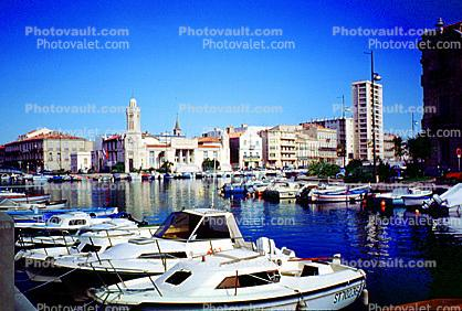 Harbor, skyline, cityscape, harbor, buildings, docks, water