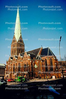 Steeple, Cathedral, Building, Hamburg