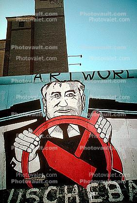 Gorbachev, the Berlin Wall, Hammer & Sickle