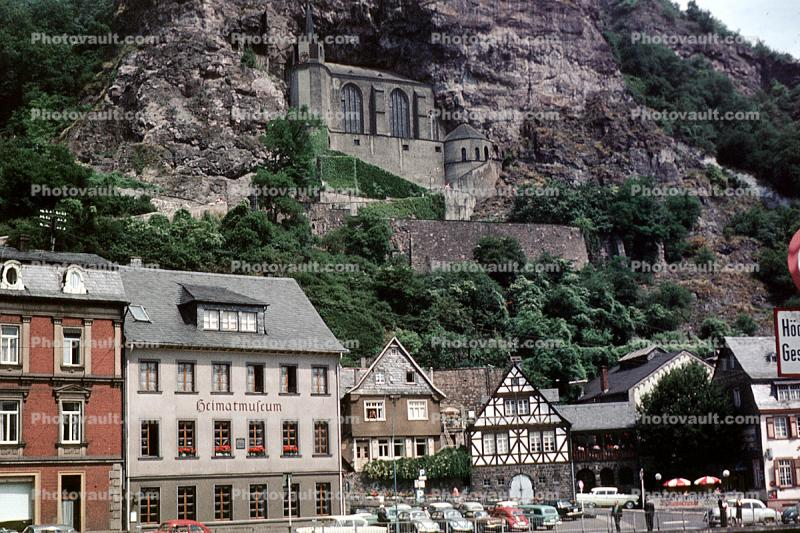Felsenkirche, (Crag Church), Cliff, Birkenfeld district, Rhineland-Palatinate, Germany, cliffs, cliff-hanging architecture