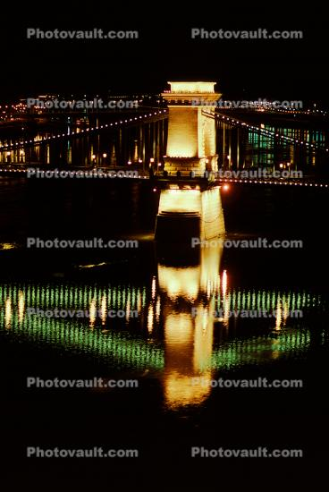 Szechenyi Chain Bridge, Chain Suspension Bridge, Danube River, Budapest