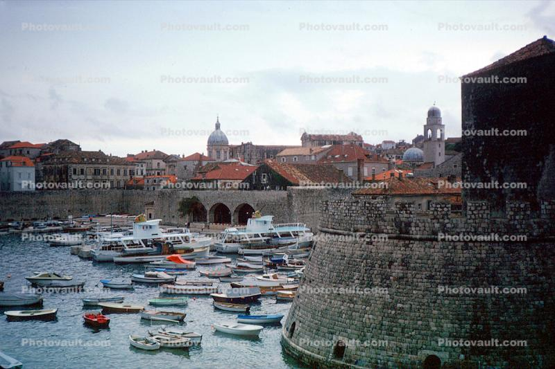 Castle, Harbor, Water, Boats, Adriatic Sea