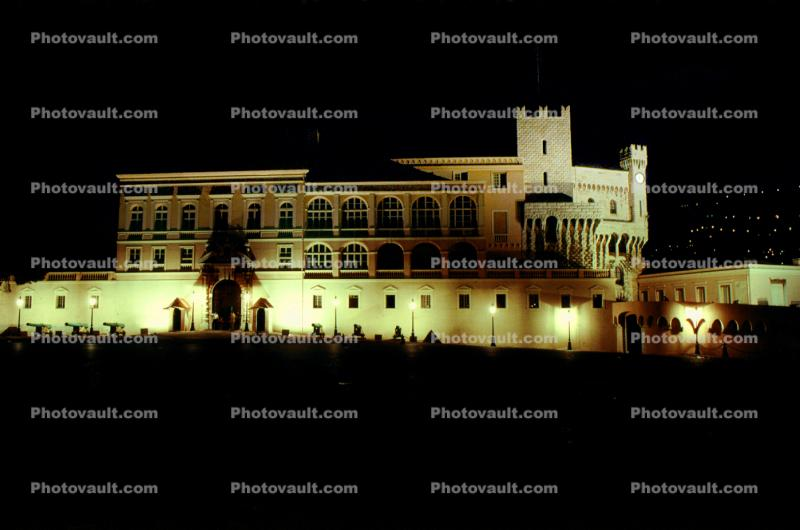 Palace, night, nighttime, building