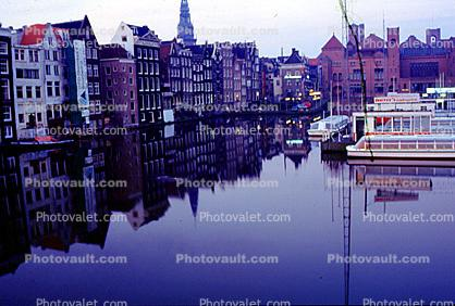 Canal, Boat, Homes, Waterway, Amsterdam