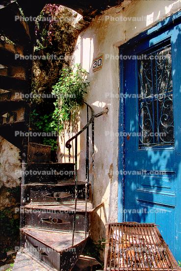 Spiral Stairs, steps, home, house, Athens