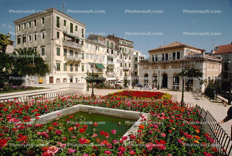 Buildings, Corfu Island, Mediterranean Sea