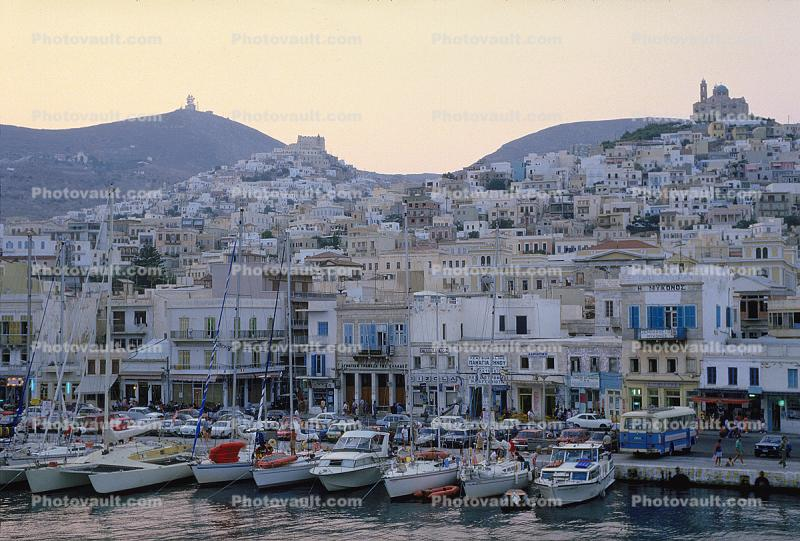 Harbor, Docks, Waterfront, Syros Island
