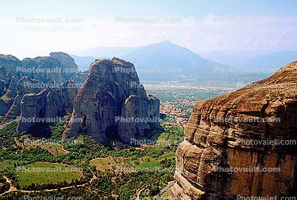Meteora, Plain of Thessaly, Eastern Orthodox Monasteries, Cliff-hanging Architecture