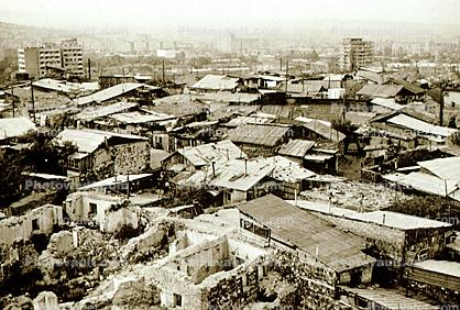 Shacks, Homes, buildings, roofs, shantytown, Yerevan