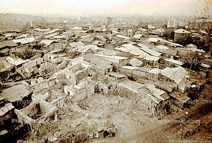 Houses, Homes, buildings, roofs, shantytown, Yerevan