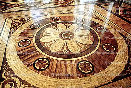 Parquet Floor, The Winter Palace, (Hermitage), Round, Circular, Circle, Ornate, Wooden, opulant