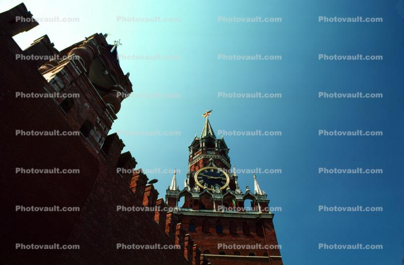 Clock Tower, Red Square, wall, building