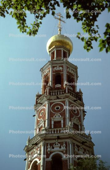 Orthodox Cathedral Tower, building, cross