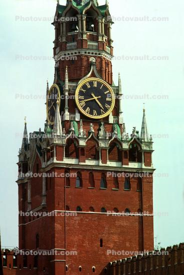 red square, clock tower, building