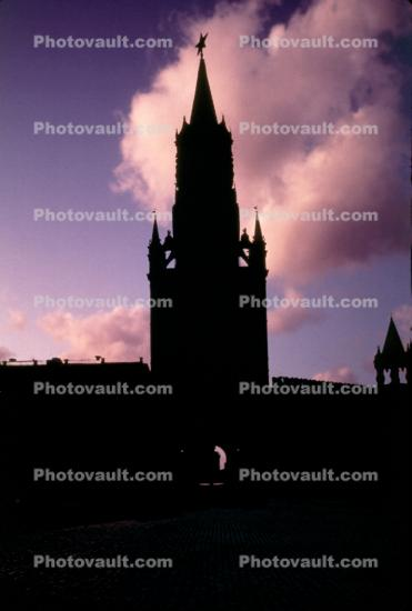 red square, tower, building, star, wall