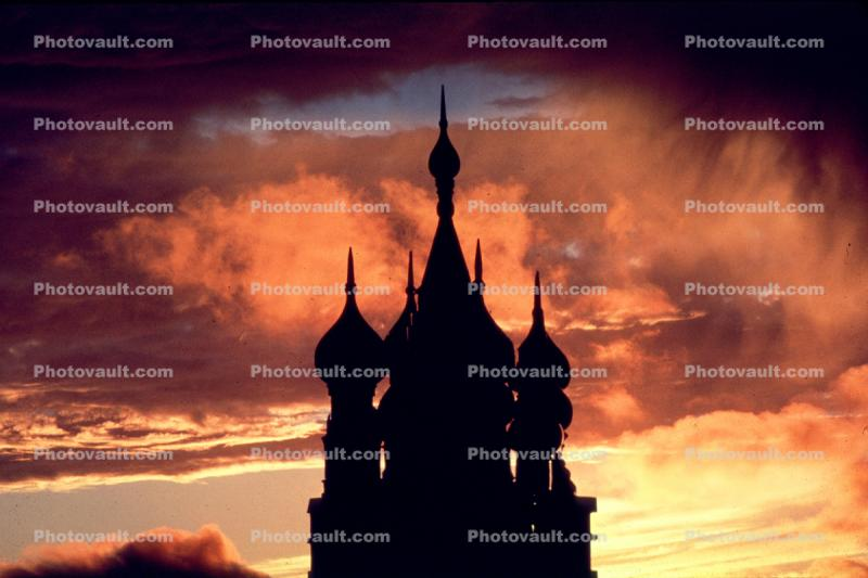 Sunset, Sunclipse, St. Basil Orthodox Church, Building