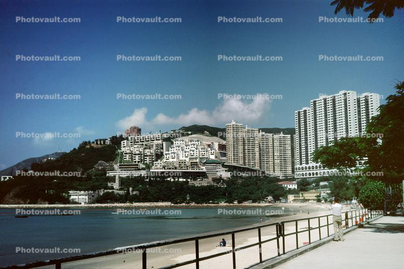 Harbor, Skyline, Apartments, Buildings, Repulse Bay, 1984, 1980s