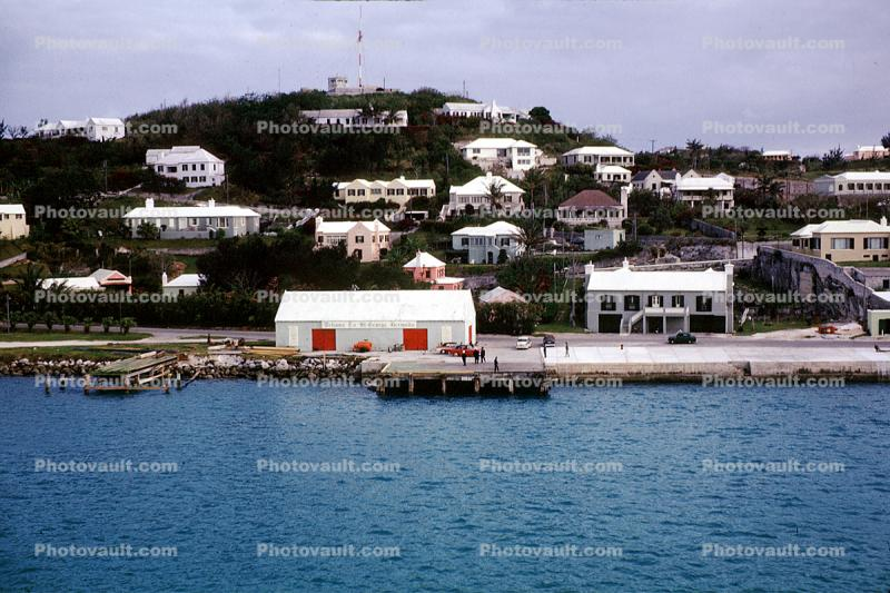Dock, Waterfront, Homes, Houses, buildings, bay, harbor, St. George