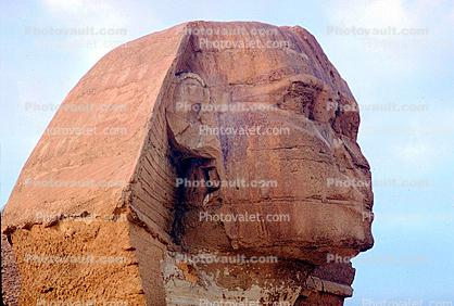 Sphinx Head, Face, landmark, Giza, 1950s