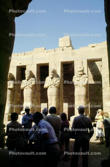 The Ramesseum, memorial temple, Thebes