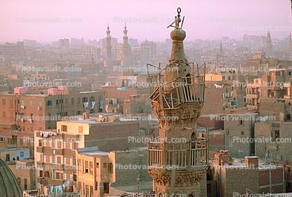 Skyline with many Minarets, Building, Cairo