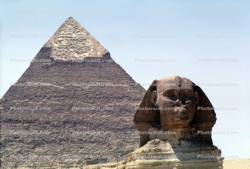 Sphinx, The Great Pyramid of Cheops, Giza, landmark