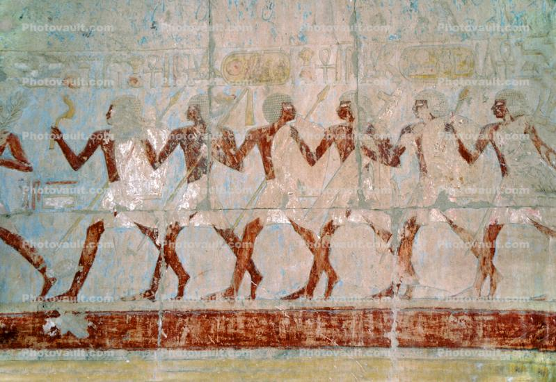 People Figures, bar-Relief art, Temple of Queen Hatshepsut