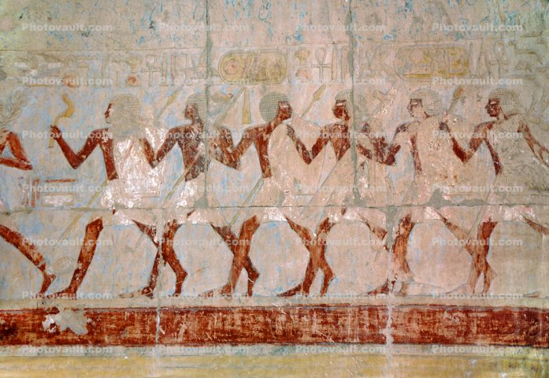 People Figures, bar-Relief art, Temple of Queen Hatshepsut, Mortuary Temple of Queen Hatshepsut, dedicated to the sun god Amon-Ra