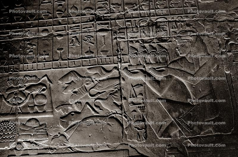 figures, bar-Relief art, Karnak, Luxor, Egypt