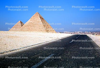 Pyramid, Road, Giza