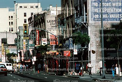downtown shops, stores, seedy, skid row