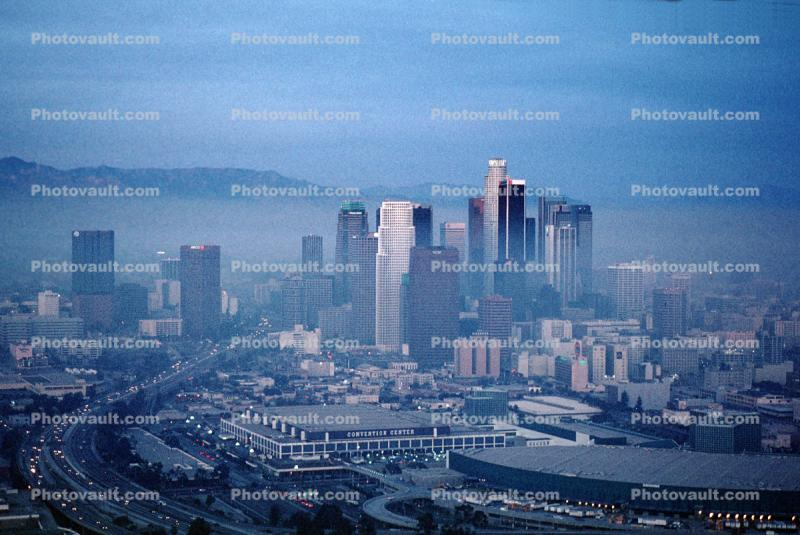 Staples Center, Highway, Downtown Buildings, Skyline, Skyscrapers, cityscape, Exterior