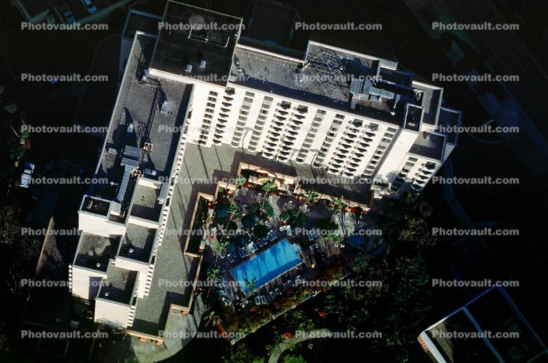 Rooftop of a Hotel, Swimming Pool, Building