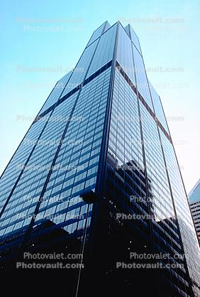 Willis Tower, looking-up, Buildings, cityscape
