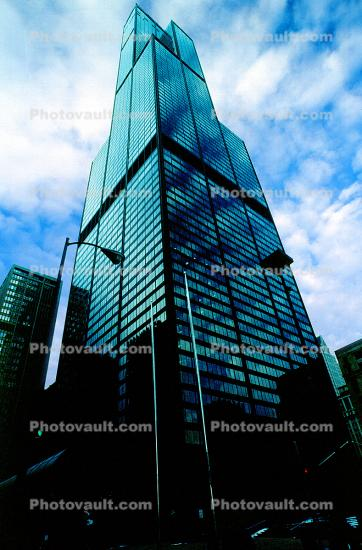 Willis Tower, Buildings, cityscape, looking-up