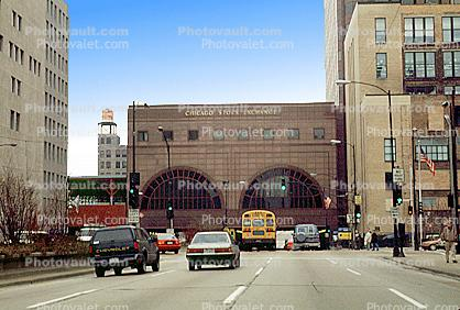The Chicago Stock-Exchange, building, cars, automobiles, vehicles