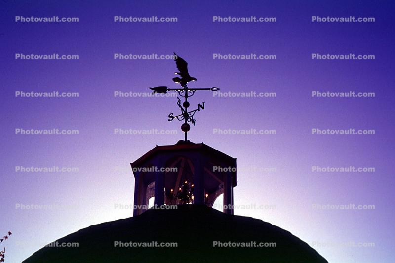 Weather Vane on a Gazebo, Red Bud