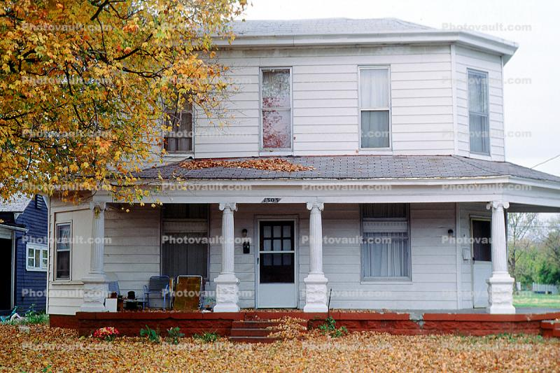 house, home, Building, domestic, domicile, residency, housing, autumn, porch, Clarksville