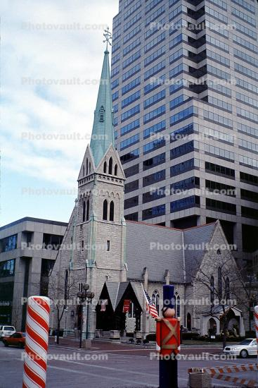 Christ Church Cathedral, church, toy soldier, Buildings, Steeple, Episcopal, Indianapolis