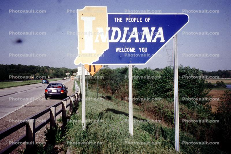 Indiana Border Sign