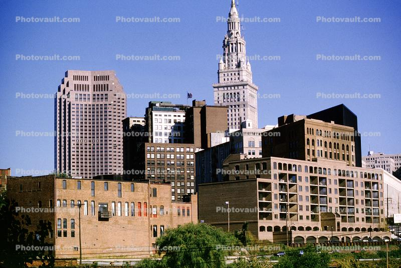 Terminal Tower, Commercial Office building, Cityscape, Skyline, Skyscraper, Downtown, Cleveland