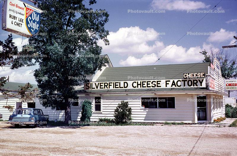 Silverfield Cheese Factory, Old Style, Car, Automobile, Vehicle, 1960s