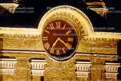 Clock Tower, Downtown, Milwaukee, outdoor clock, outside, exterior, building, roman numerals