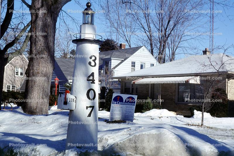 Snow, ice, home, house, winter, 3407, Mailbox, Racine