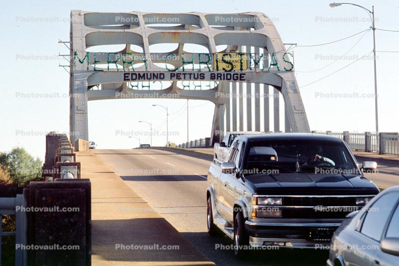 Edmund Pettus Bridge, Selma, Cars, automobile, vehicles