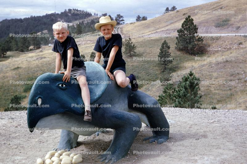 Boys at Dinosaur Park, Eggs, Nest, Rapid City